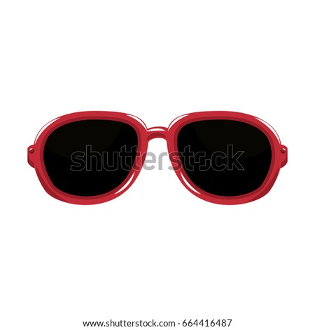isolated vacation glasses #664416487