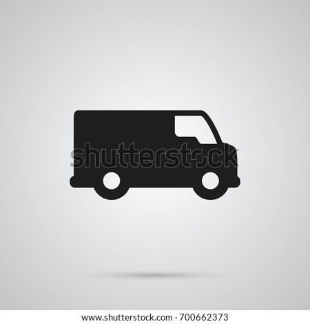 Isolated Van Icon Symbol On Clean Background. Vector Caravan Element In Trendy Style.