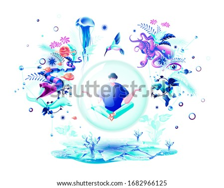 isolated vector abstract