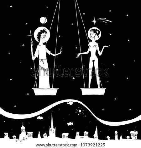 isolated vector black and white