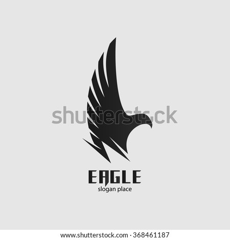 isolated vector black eagle