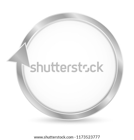 Isolated vector circular arrow, pointer (loop) with blank place for text (cycle circle). Illustration on white background. Useful for banner design, business creative concept idea, web banner. Vector