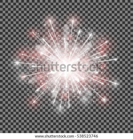 isolated vector fireworks on