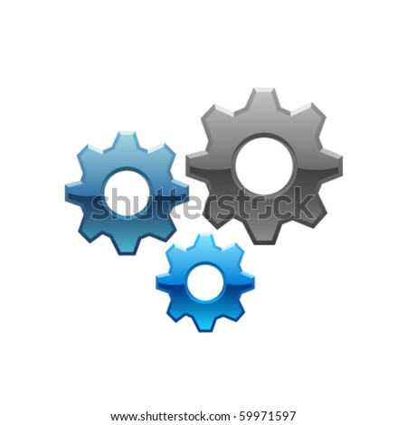 isolated vector gears