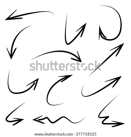 isolated vector hand drawn arrows