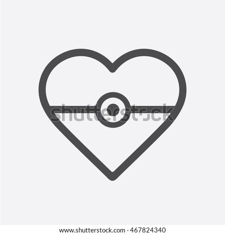 isolated vector heart sign
