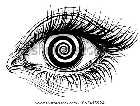 Vector Realistic Human Eyeball Illustration