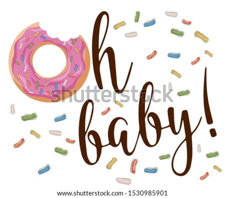 Isolated vector logo for donut shop and bakery. Can find its application as a logo or icon for sweet bar, confectionery room, boutique, store