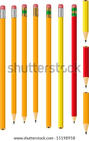 Isolated Vector Pencil Collection