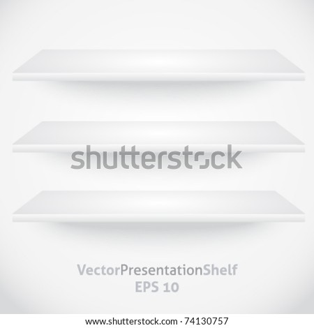 Isolated vector product presentation shelves
