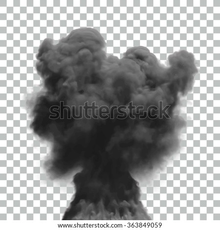 isolated vector smoke effect
