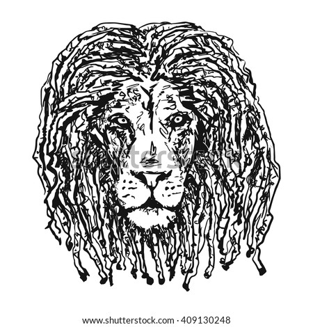 isolated vectorhead lion with