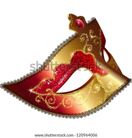 Isolated Venetian carnival mask vector illustration