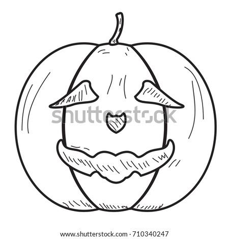 isolated vintage halloween jack