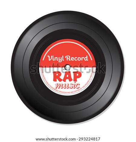 isolated vinyl record with the