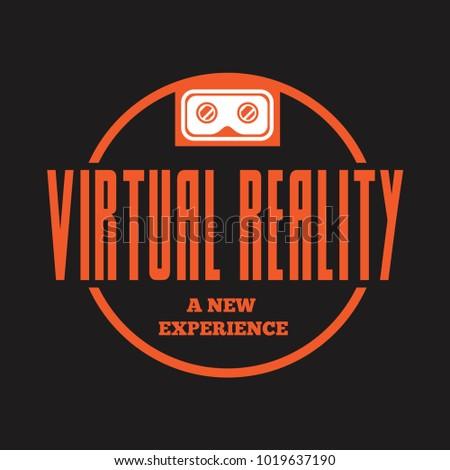 Isolated vr headset logotype. Virtual reality helmet logo. Head-mounted display icon. Logo device.