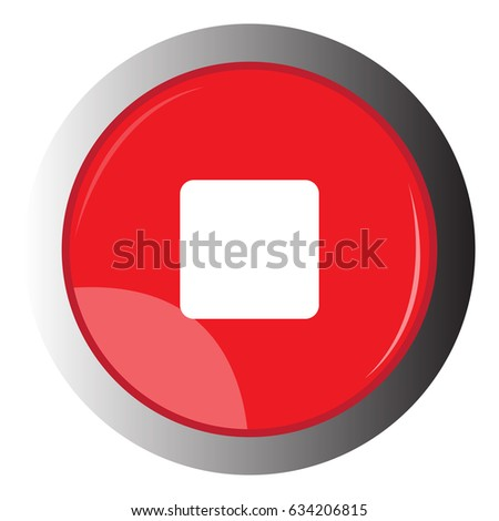 Isolated web button with a stop symbol, Vector illustration #634206815