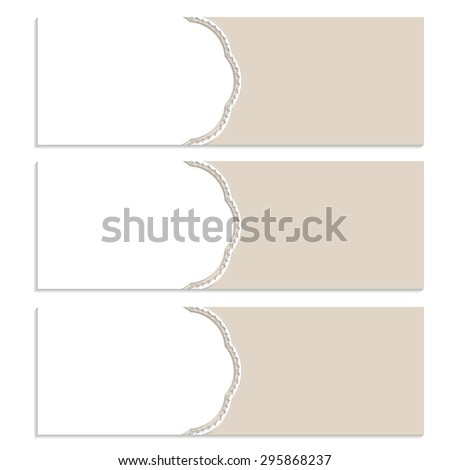 Isolated wedding horizontal banners.Flyer template for business design.Vector illustration.