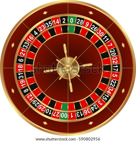 isolated wheel of american roulette Photo stock ©