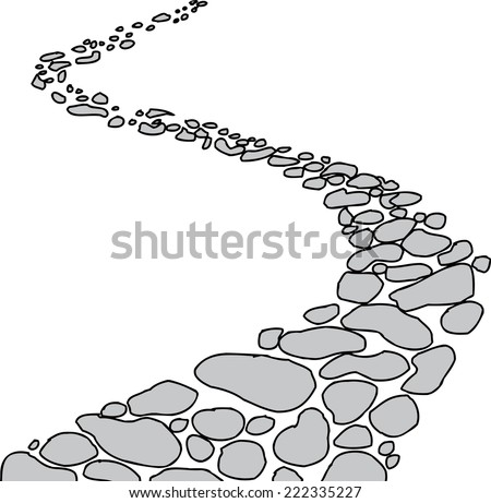 isolated winding stone path