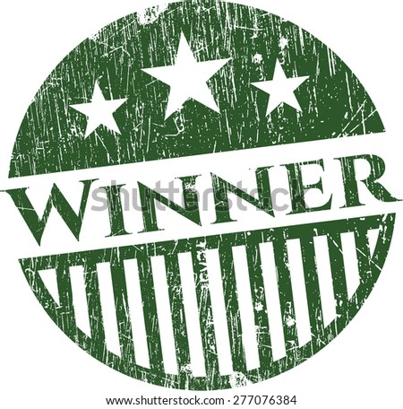Isolated Winner rubber stamp