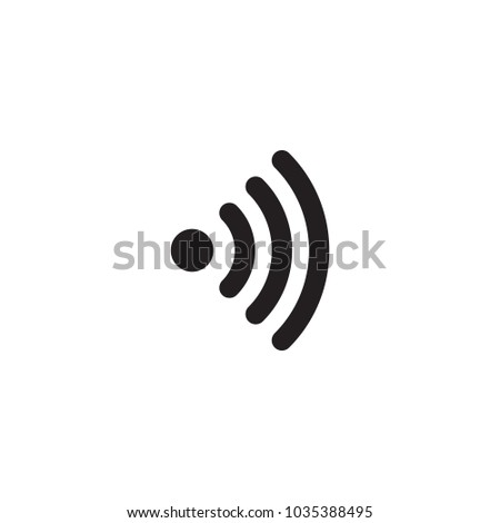 Isolated wireless icon symbol on clean background. Vector wifi element in trendy style.