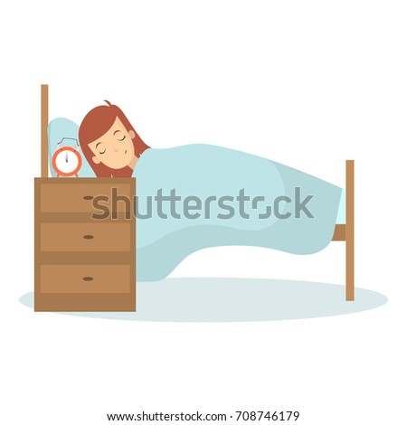 isolated woman sleeping in bed
