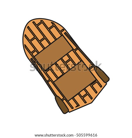 Isolated wood boat design
