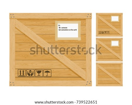 Isolated Wooden Crate On Transparent Background