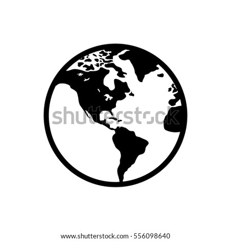 isolated world earth icon