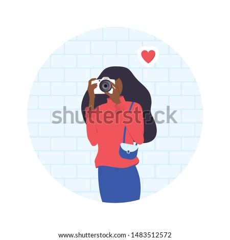 isolated young woman doing