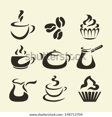 Isolates coffee icons