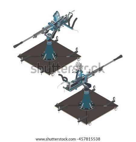 isometric air defense gun