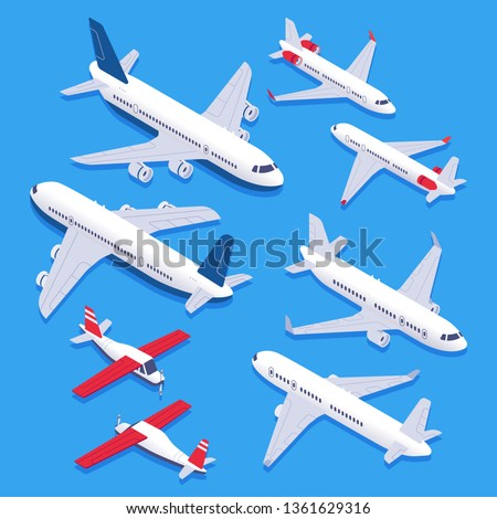 isometric airplanes passenger