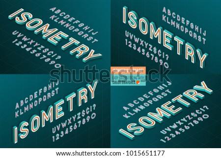 isometric alphabet 4 in 1 3d