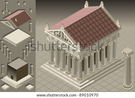 isometric ancient roman