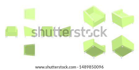 isometric and flat yellow green