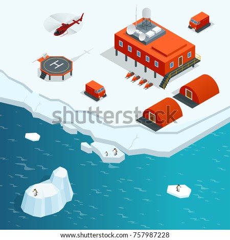 isometric antarctica station or