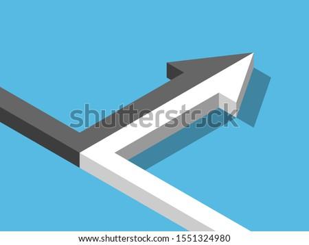 isometric arrow of two black