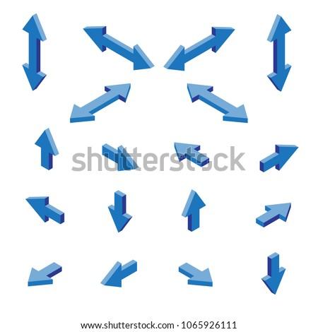 isometric arrows vector