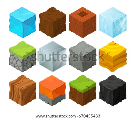 isometric blocks with different