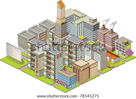 Isometric building map