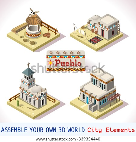 isometric building western