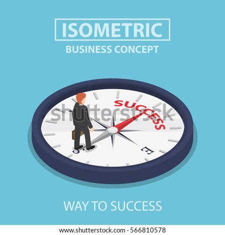 isometric businessman standing