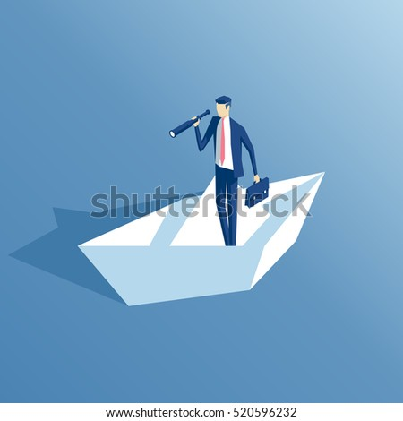 isometric businessman with a