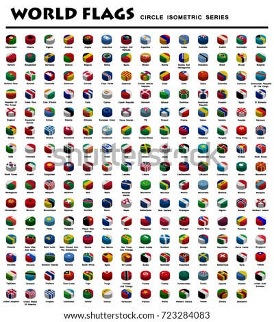 Isometric Circle Flags Of World #723284083