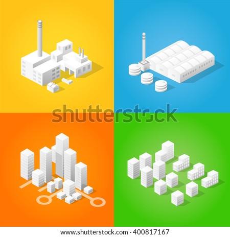 isometric city of industry...