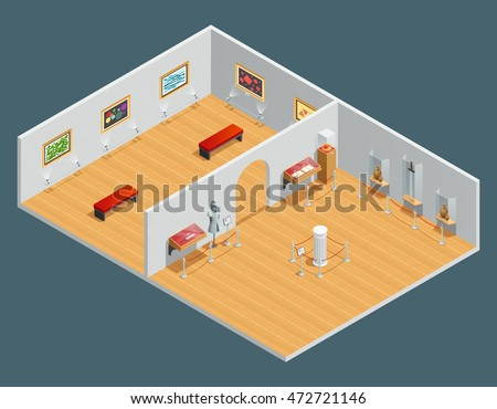 isometric color illustration of