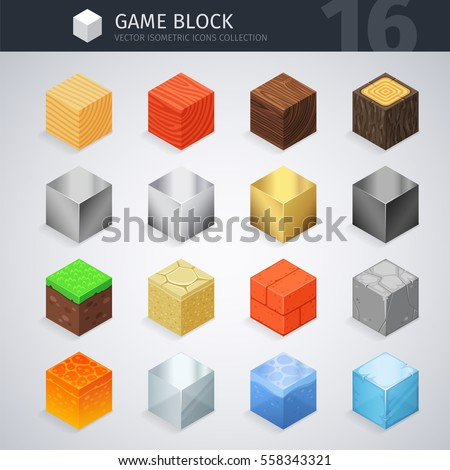 isometric colorful material
