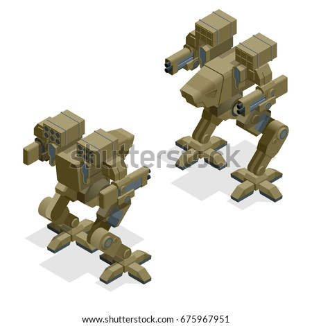 isometric combat robot high